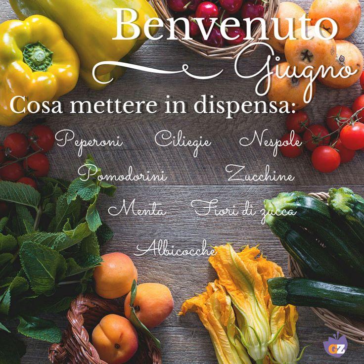 #Giugno è arrivato! Cosa mettere nel tuo carrello? Ecco tutta la #frutta e la #verdura che non può mancare nella tua #spesa. #Giallozafferano #season #fruit #vegetables #spring #giugno #june #summer
