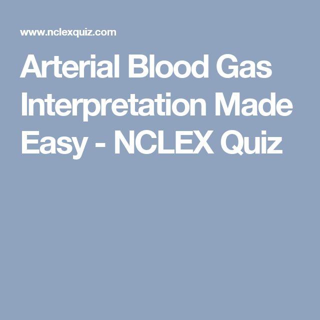 Arterial Blood Gas Interpretation Made Easy - NCLEX Quiz