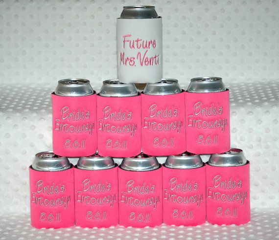 custom koozies for the bridal party!