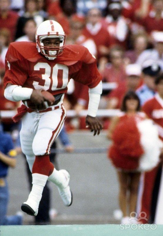 Nebraska Cornhuskers running back Mike Rozier (30) in action during the 1983 season at Memorial Stadium.