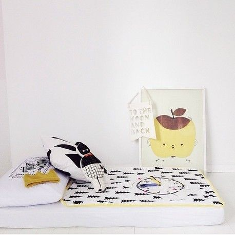 Fine Little Day Gran Child Blanket - Yellow Edge by BabyDonkie