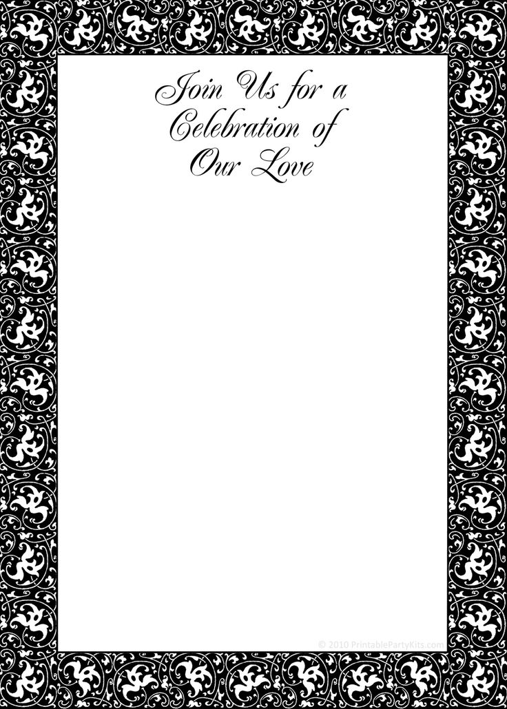 264 best Templates images on Pinterest Invitation templates - free printable wedding invitation templates for word