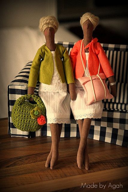 Sorbette Sisters - art dolls by made by Agah