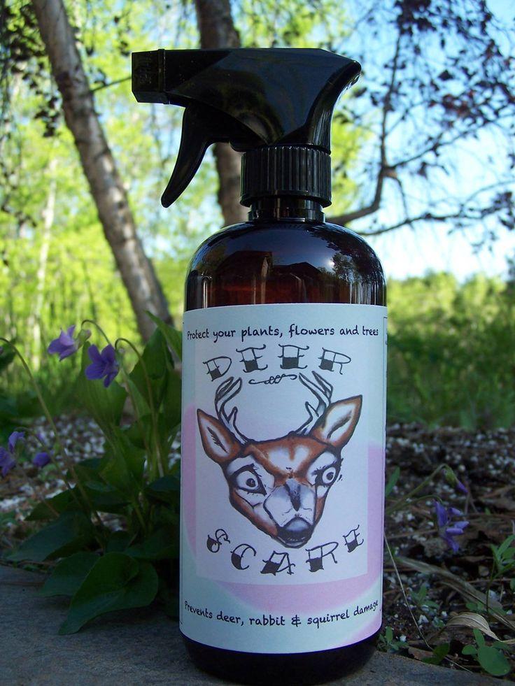 Fragrant readytouse deer and rabbit repellent spray for