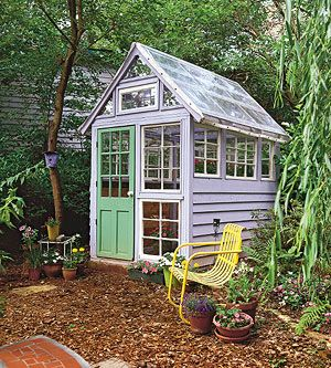 Green house with Salvaged Parts. I wonder if I could really make this one.
