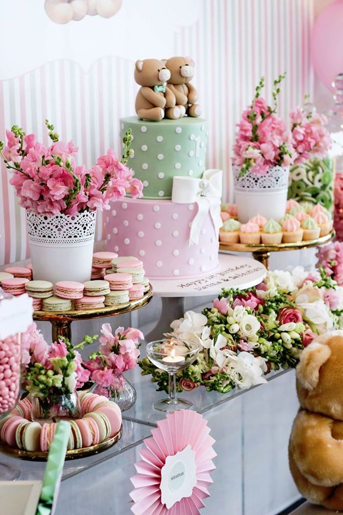 Sweet Table from a TeddyBear Forever Friends Birthday Party via Kara's Party…