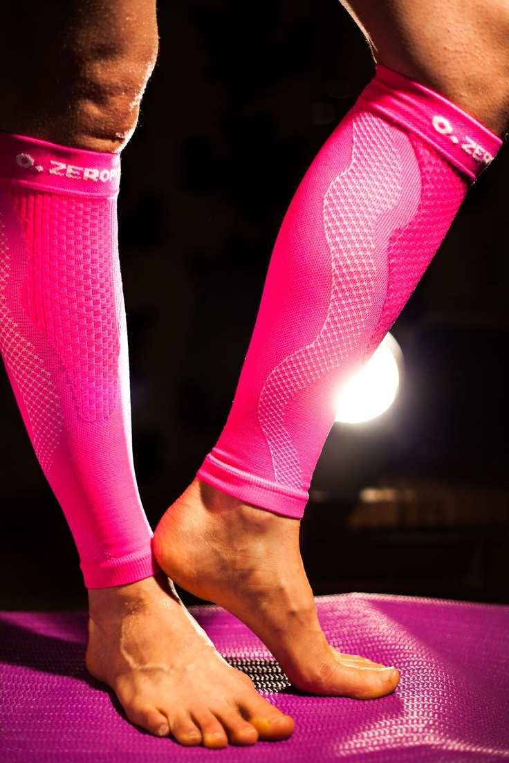 Compression Performance Calf Sleeves OX  #sport-compression #compression #calf #legs #pink #women #sport #fitness #health #medical