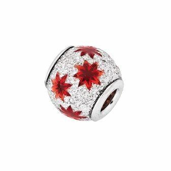 Amore & Baci 6D004 sparkling silver and enamel bead
