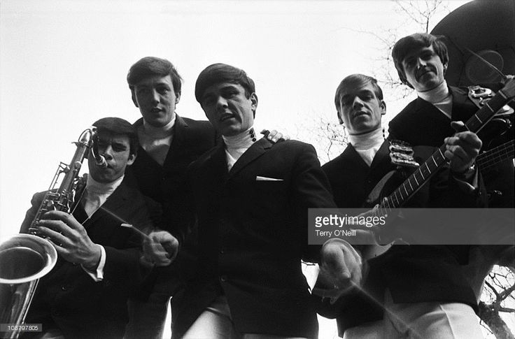 British pop band The Dave Clark Five publicity shoot prior to their first record release in London. They were the first British group to tour the USA.