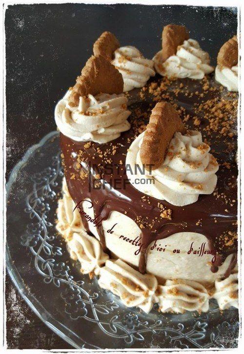 Magnifique recette de layer cake à la crème de spéculoos et à la chantilly proposé par Instant Chef. Plus de recettes sur le blog d'Instant Chef.