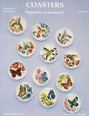 Schema punto croce Quadro Farfalle Fiori A