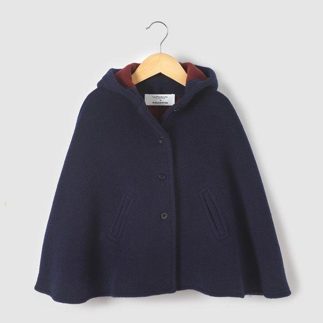 Cape drap de laine COLLECTOR 3-12 ans abcd'R