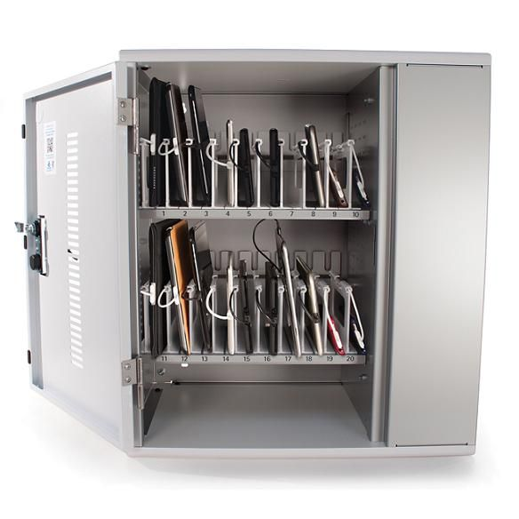 Awesome Tablet Charging Cabinets By Anthro   Just For Inspiration. Like The Way The  Devices Lie On Their Sides.
