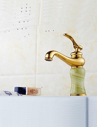 Contemporary Golden Stone Design Single Hole Waterfall Basin Tap Mixer Taps Simple stylish luxurious classic and durable design *** Want additional info? Click on the image.