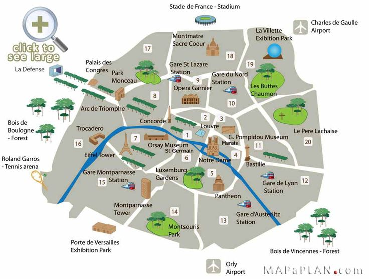 Paris Attractions | Paris top tourist attractions map Fun locations to go with kids ...