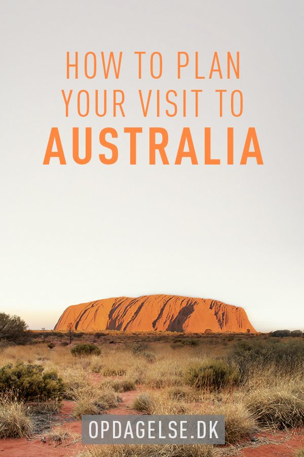 How to plan your visit to Australia --- The post is in danish. Choose your own language in the bottom of the right sidebar