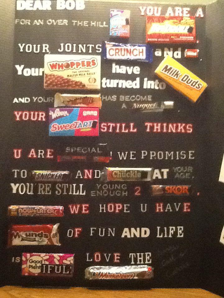 60th birthday candy bar card