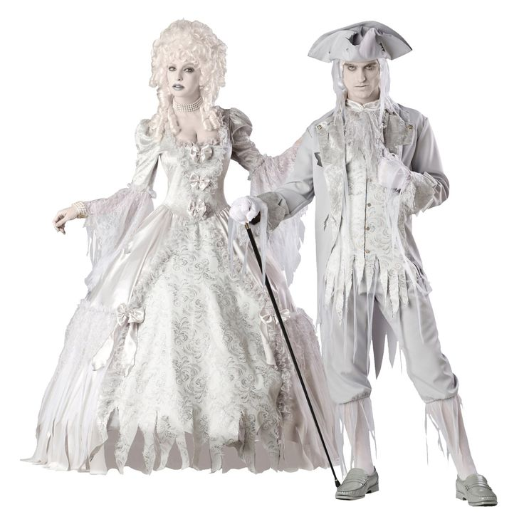 ghost costume | Ghost Gent & Ghost Lady Couples Costumes