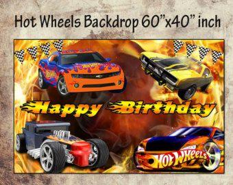 """Caliente ruedas fondo 60 """"x 40"""" pulgadas-Hot Wheels ruedas caliente invitación cumpleaños fiesta caliente ruedas ruedas calientes descargar Digital imprimible-DIY"""