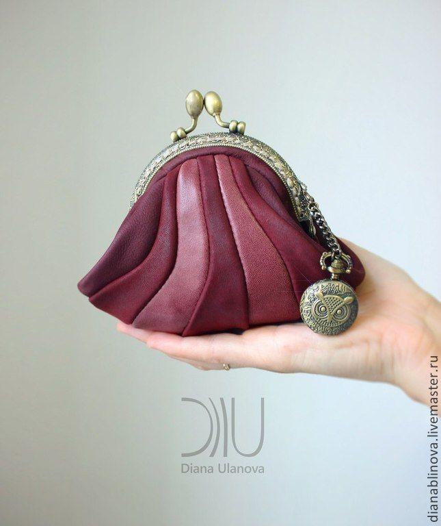"""Купить кошелек """"Винтаж"""" - синий, кошелек женский, красивый подарок, подарок женщине, дизайнерская работа"""