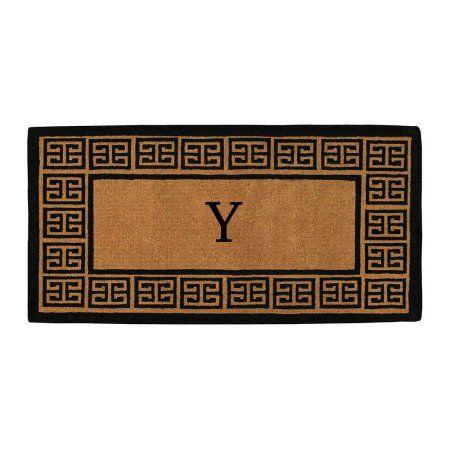 Momentum Mats 'The Grecian' Extra-thick Monogrammed Doormat (3' x 6'), Black