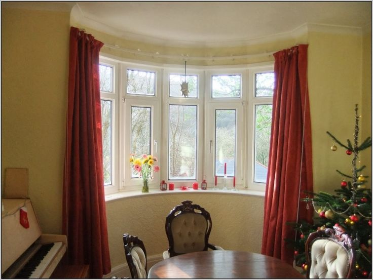 interior unfinished bay window curtain rod with ceiling brackets also bay window curtain rods west