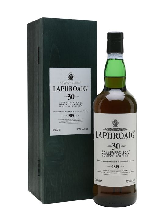 Laphroaig 30 Year Old Scotch Whisky : The Whisky Exchange