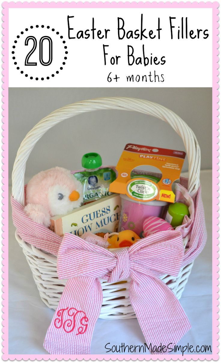 Best 25 baby easter basket ideas on pinterest easter baskets 20 easter basket filler ideas for babies negle
