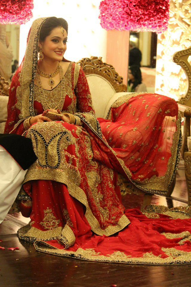 This is the image gallery of traditional pakistani red for All red wedding dresses