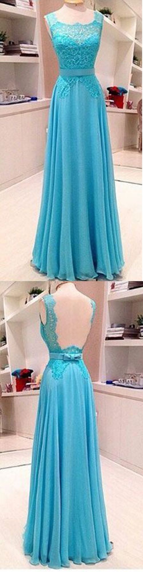 Charming Prom Dress,Chiffon Prom Dress,Lace Prom Dress,A-Line Evening Dress