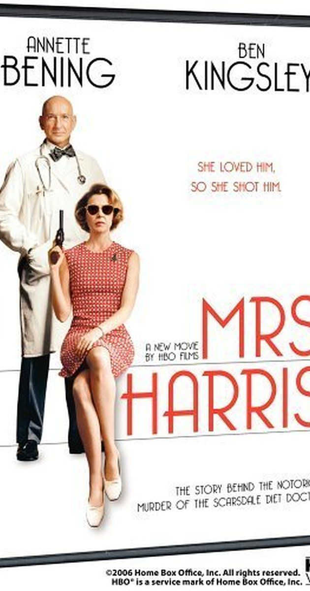 Directed by Phyllis Nagy.  With Annette Bening, Ben Kingsley, Cloris Leachman, Lawrence O'Donnell. Based on the sensational 1980s media event, famed cardiologist Herman Tarnower meets a particularly brutal end at the hands of his jilted lover, Jean Harris.