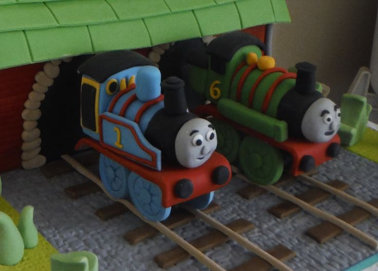 Thomas & Percy Gumpaste Cake Toppers