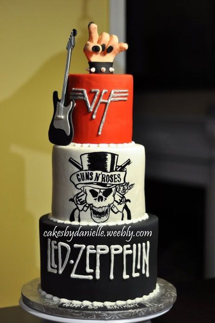 Is it wrong that I totally want this as a wedding cake? GNR and VH would have to be changed but Led Zeppelin for sure
