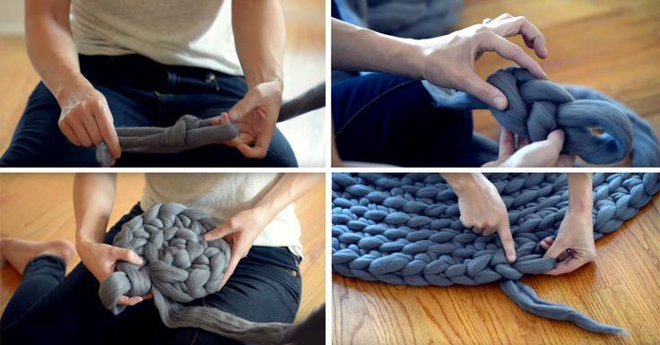 6 tipp, hogyan készíthetsz sajátkezűleg szőnyeget. Nem lesz másra szükséged, csak kreativitásra és pár pólóra!