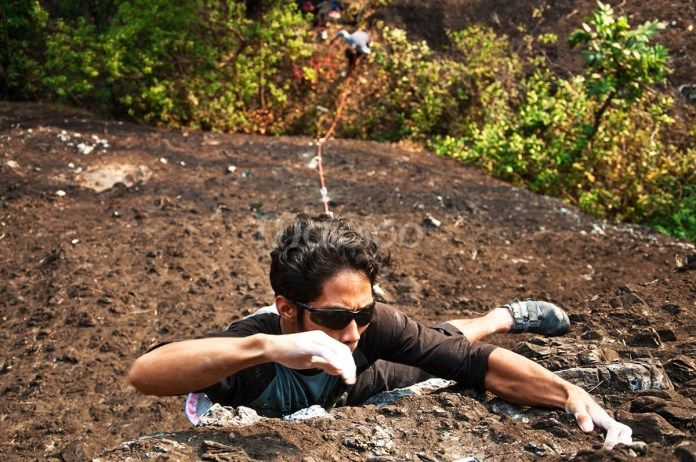 Selain camping dan trecking, panjat dinding pun bisa dilakukan di Gunung Nglanggeran. (Benedictus Oktaviantoro/Maioloo.com)
