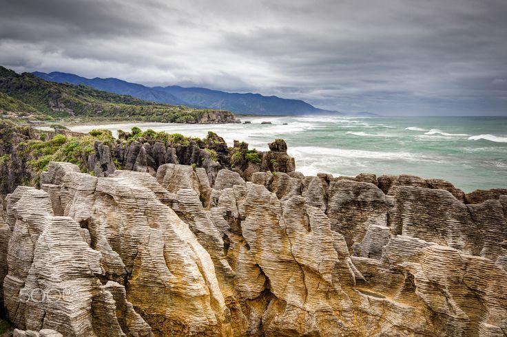 Pancake Rocks - Pancake Rock, West Coast South Island