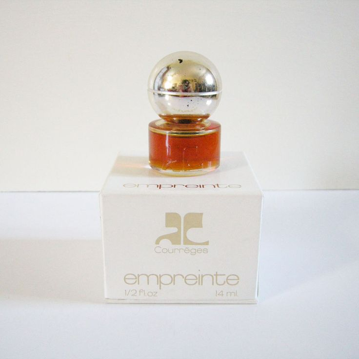 Vintage 1970s Empreinte Courreges Parfum 14ml / 0.5 fl.oz Rare Perfume Paris