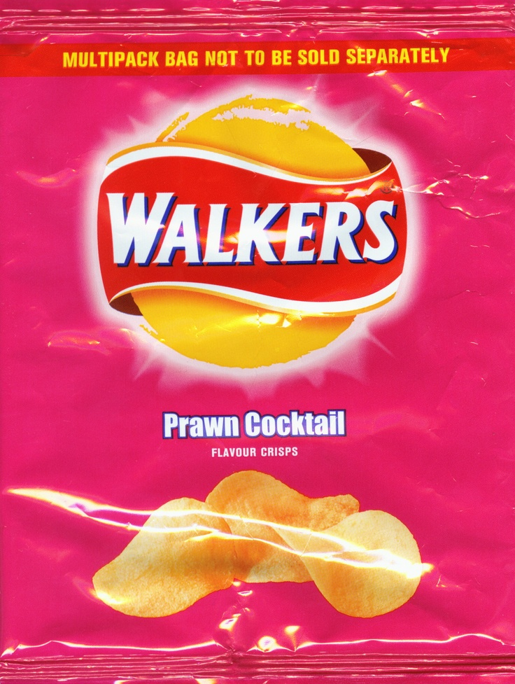 Walkers Prawn Cocktail Crisps.  Loved to eat them for lunch!