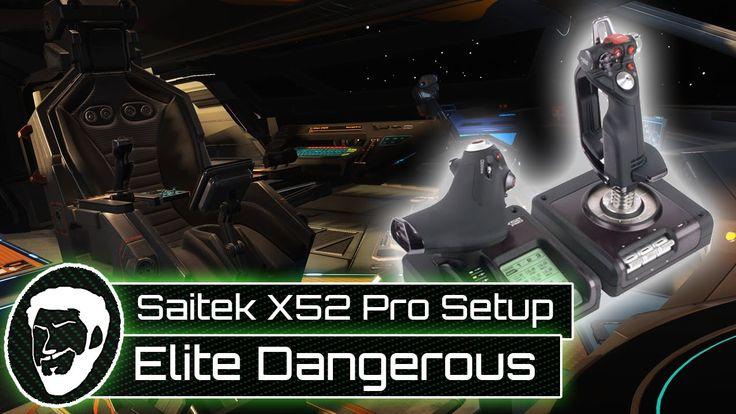 Elite Dangerous HOTAS Control Setup   Saitek X52 Pro - YouTube