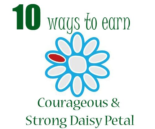 Earn the Red Daisy Petal | Courageous & Strong | Girl Scout Law | Daisy Girl Scouts
