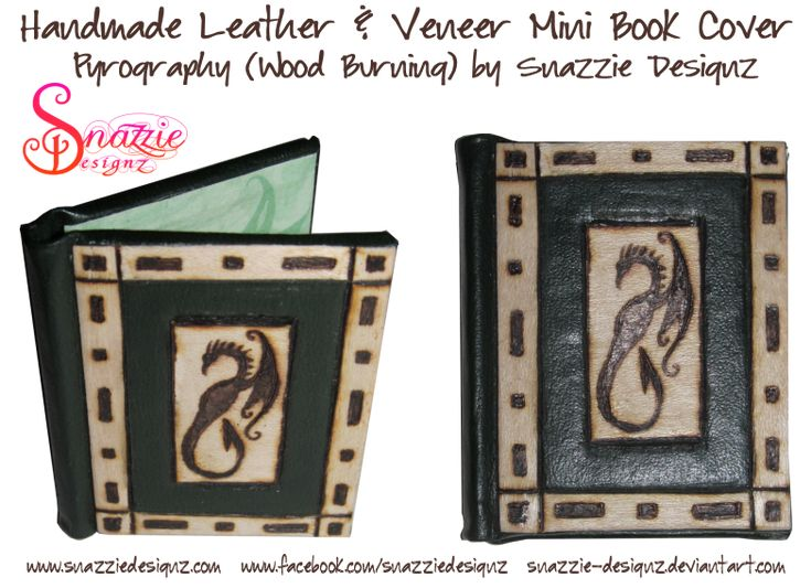 Hand made dragon mini-book cover by snazzie-designz on DeviantArt