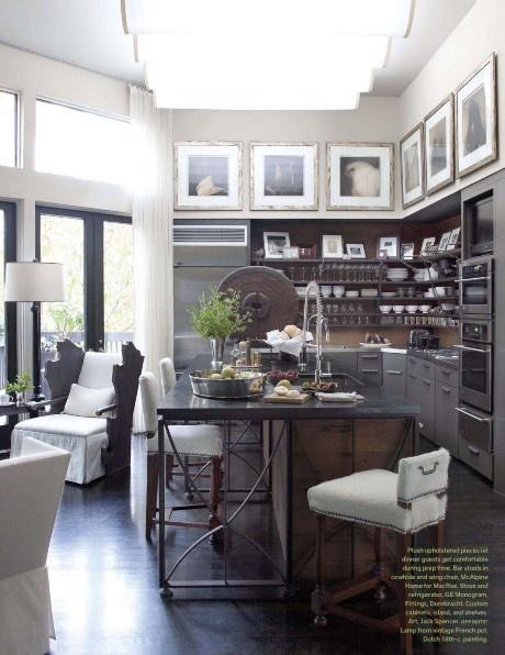 McAlpine Tankersley Architects: Idea, Kitchens Design, Open Shelves, Industrial Kitchens, Interiors Design, Bobby Mcalpin, Islands, Modern Kitchens, Open Kitchens