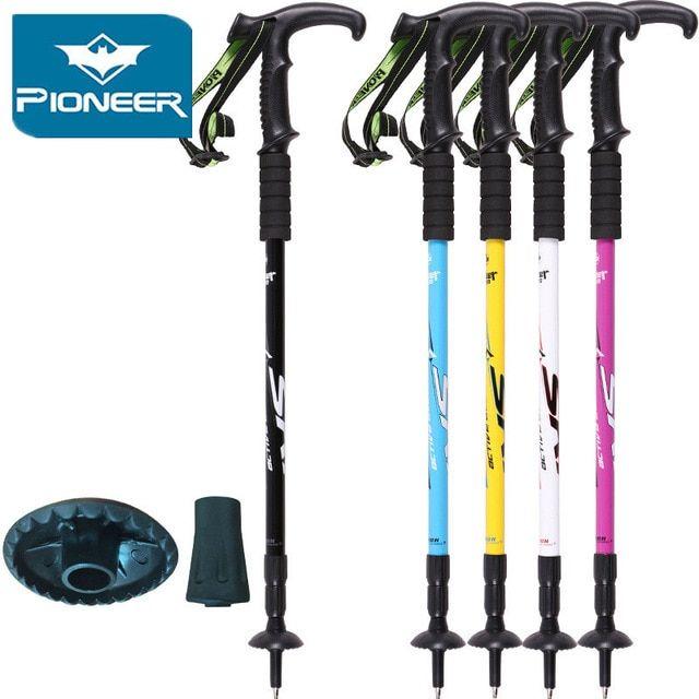 2018 Crutch Trekking Ski Pole Walking Stick Adjustable Hiking