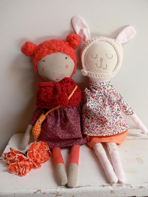Rag doll Cloth Doll Dress up doll LIZA