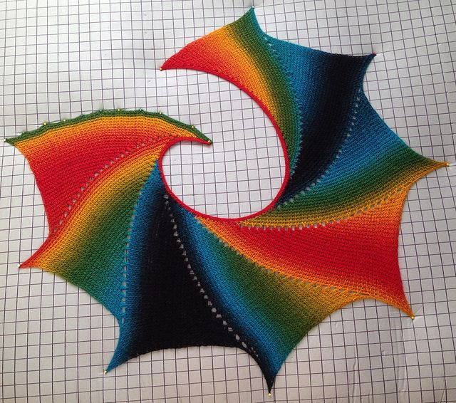 Tunisian Wingspan Shawl By Amy Depew - Free Crochet Pattern - (ravelry)