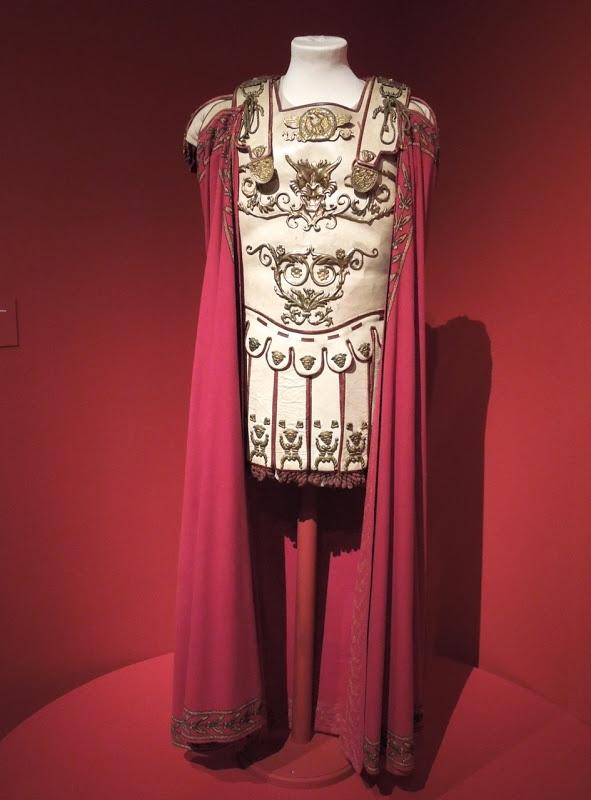 Laurence Olivier's Marcus Licinius Crassus costume from Spartacus on display...