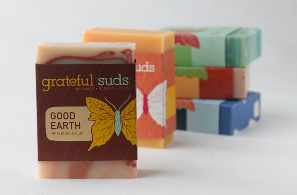 Beautiful Soap Packaging by Grateful Suds