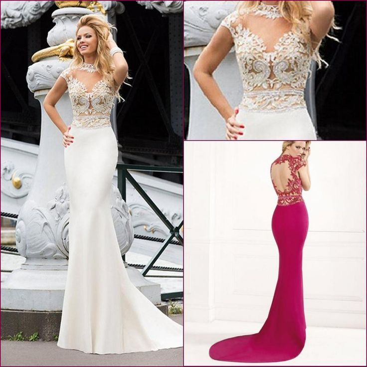 2016 High Neck Evening Dresses Tarik Ediz Lace Appliques Backless Long Mermaid Prom Dress Elegant Party Evening Gowns 2015 Cheap Maternity Dresses Dresses For Special Occasions From Olisha, $111.26| Dhgate.Com