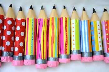 pencil treat holders and other school party ideas