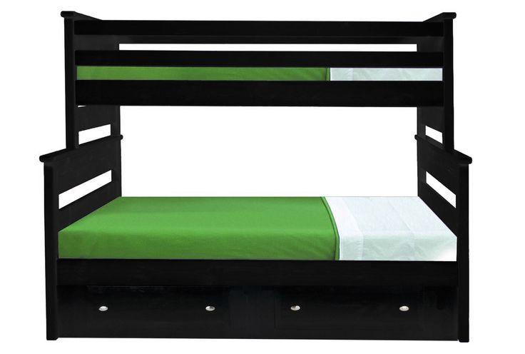 Laguna Black Twin/Full Bunk Bed - Signature